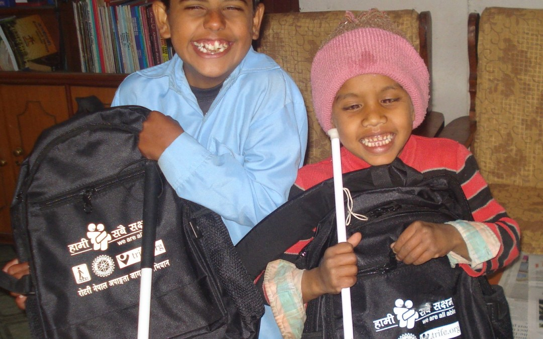 Backpacks and School Tools for Blind/Visually-Impaired (BVI) students