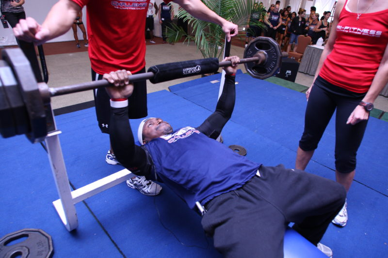 T.F.C BENCH PRESS (eat right-train hard) see it-believe it-achieve it!