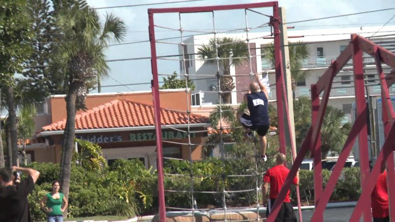 Chris Kovacs tears up the Tri-Fitness Obstacle Course