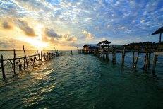 A fishing pier at Bintan Island by Lisa Javier