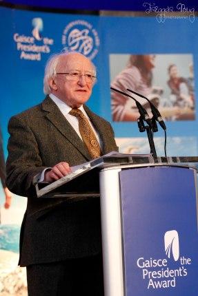 President Michael D. Higgins Gaisce2014