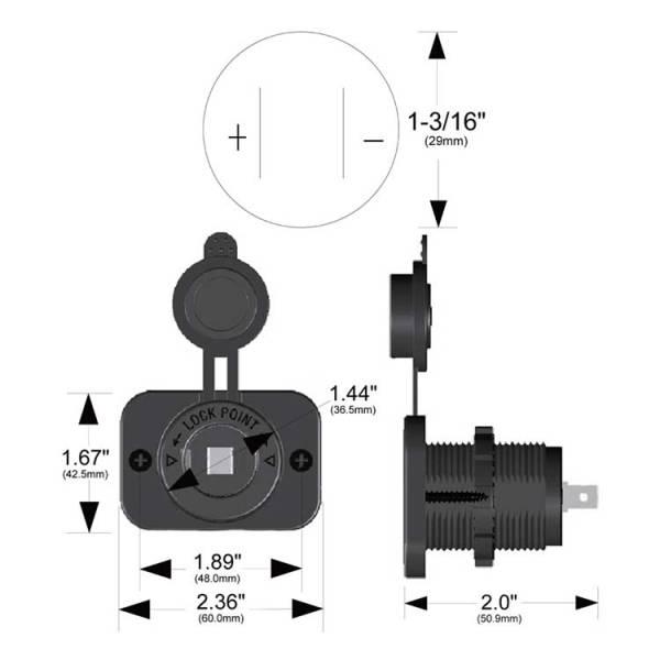 12 Volt Power Socket 20286 Dimensions Trigger Controller