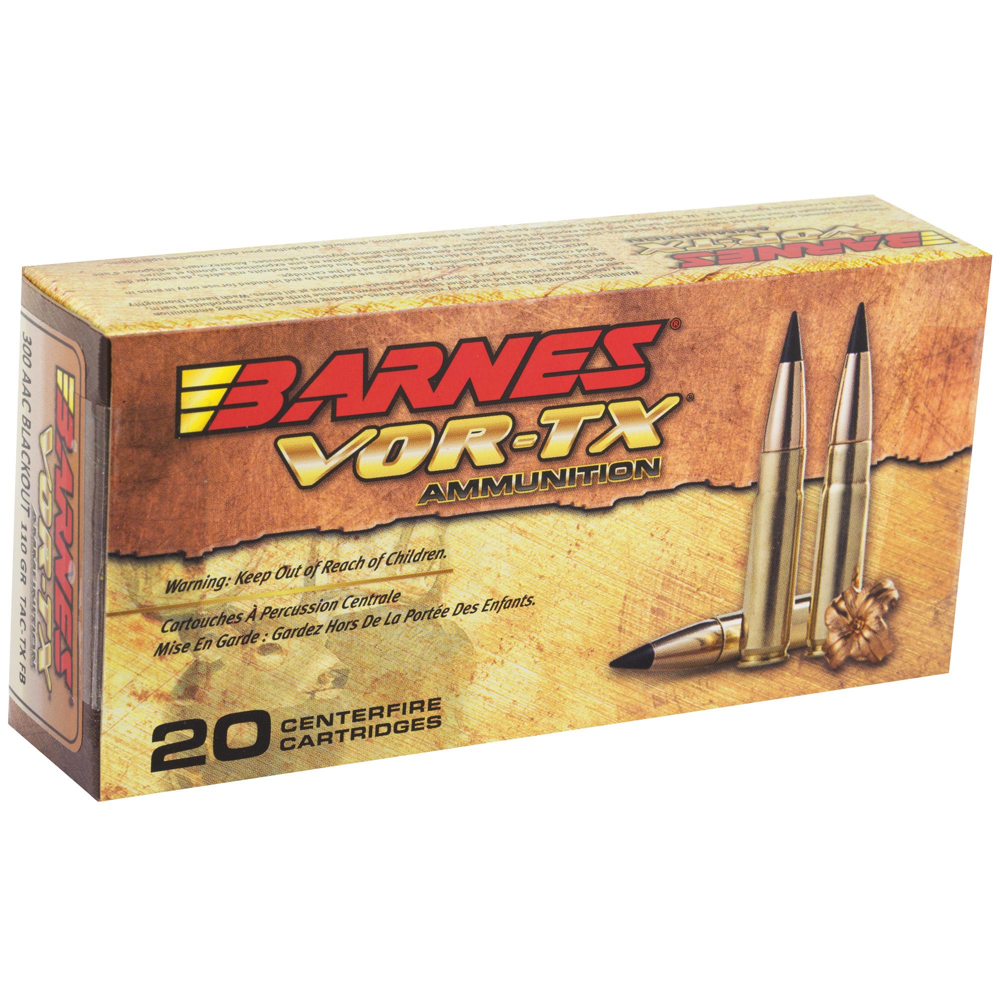 Barnes VOR-TX 300 BlackOut 110gr Tipped-TSX Flat Base ...