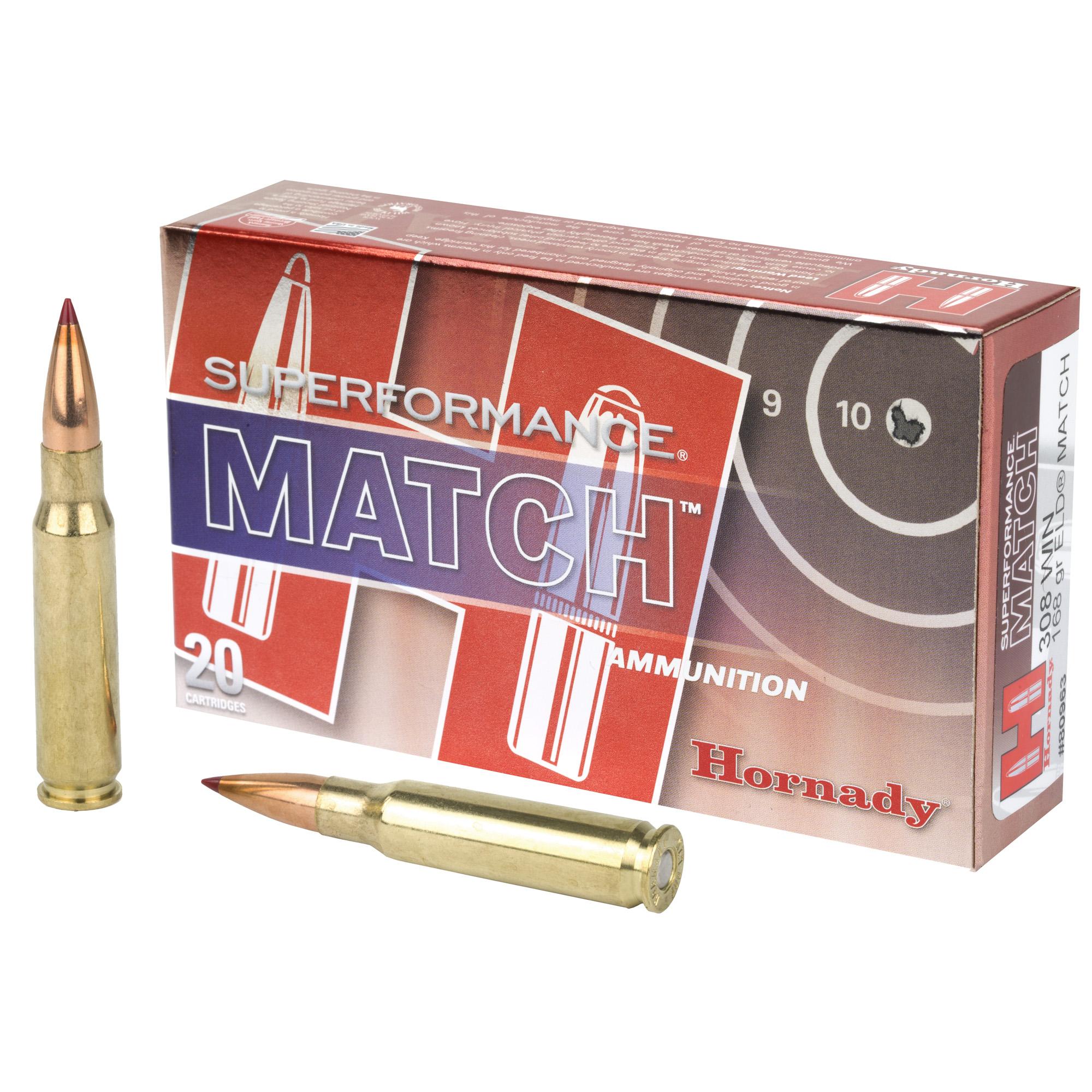 Hornady Superformance 308 Winchester 168gr ELD Match 20 Round Box
