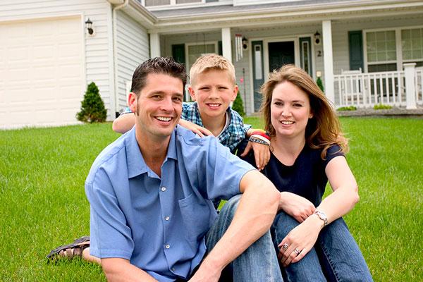 new homeowner family