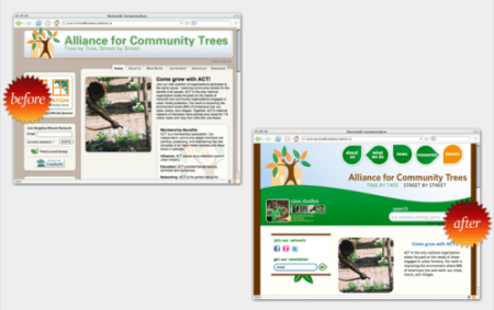 Actrees Website Before & After