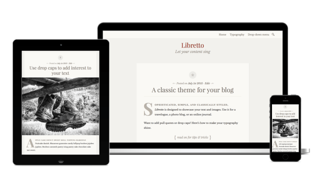 Libretto WordPress theme