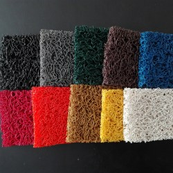 Alfombra de rizos de PVC