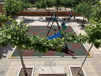 suelo de goma parque infantil
