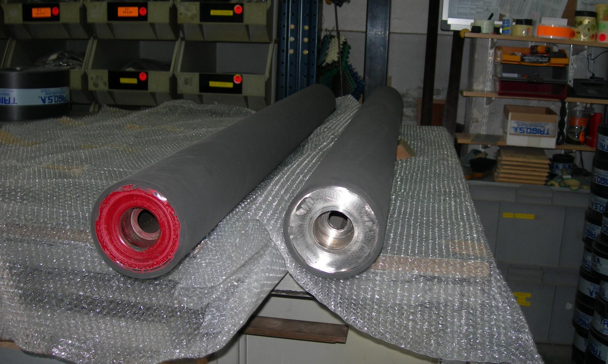 recubrimiento de cilindros en caucho
