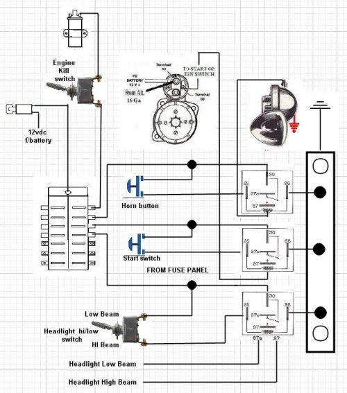 vw trike wiring harness diagram
