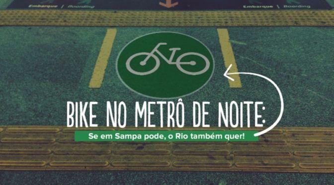 Bike no Metrô à Noite no Rio