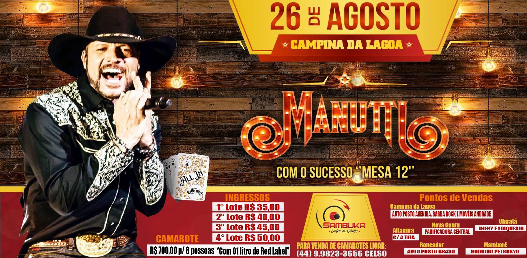 Show Manutti Sambuka Centro de Eventos