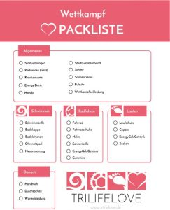 Triathlon Packliste