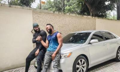Flavour Gifts his childhood friend with a car (photos)