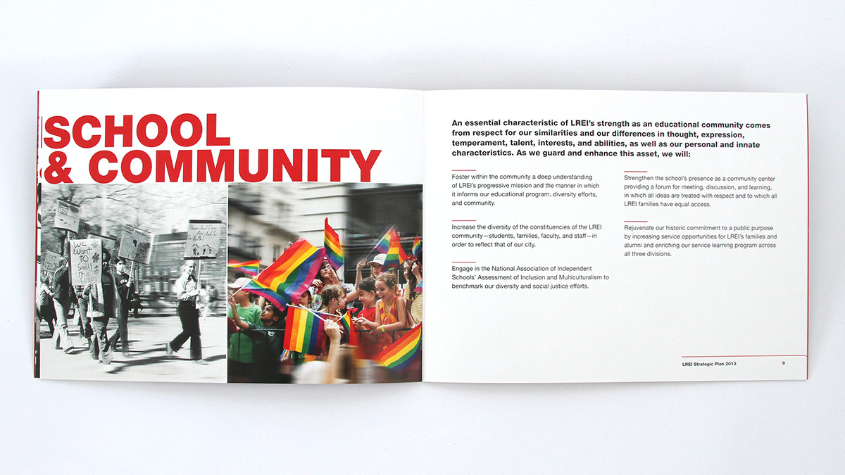 LREI  School Capital Campaign Brochure by Trillion Creative