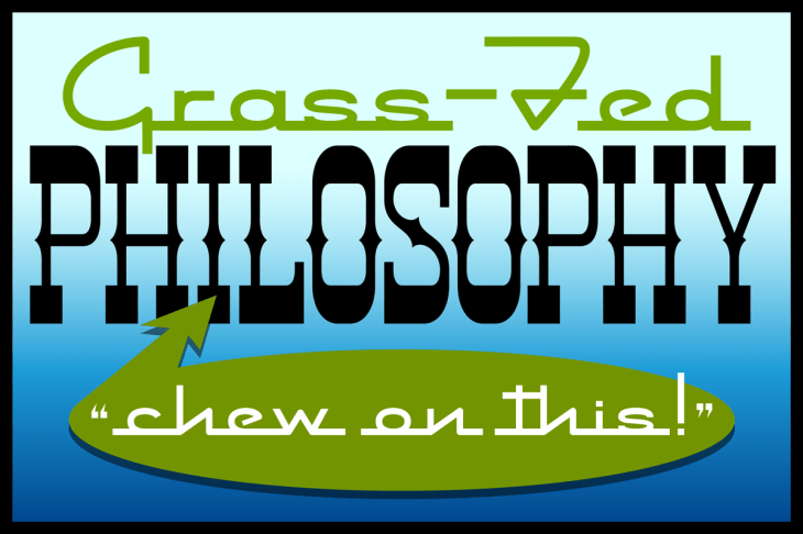 grass-fed philosophy poster
