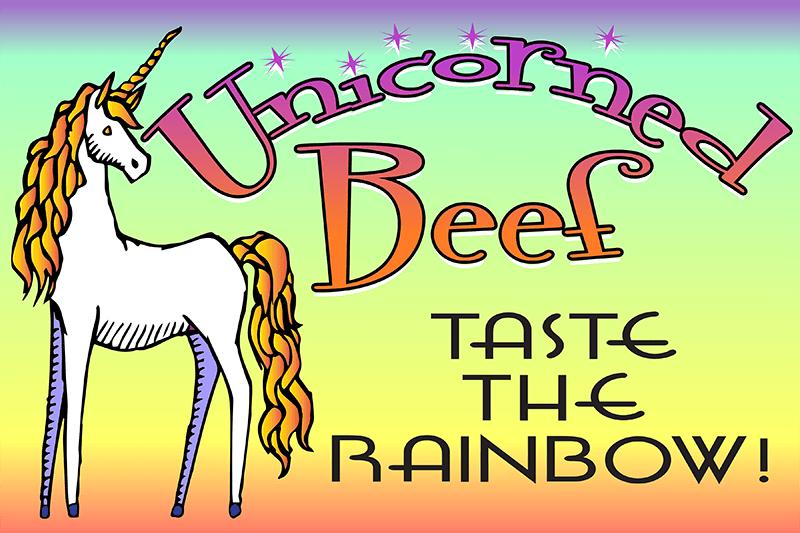 unicorned beef poster