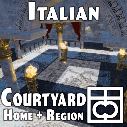 Italian Courtyard Home and Region