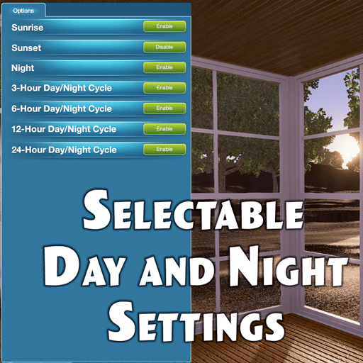 Selectable Day And Night Settings