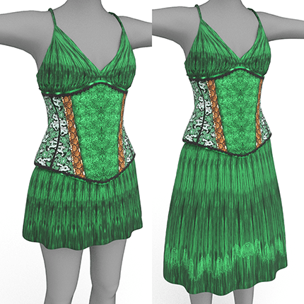 Bettie Outfit in green