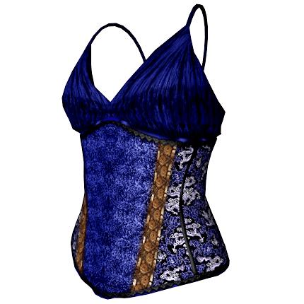Bettie Corset Top in blue