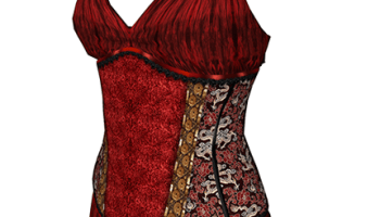 Bettie Outfit Corset Top in red