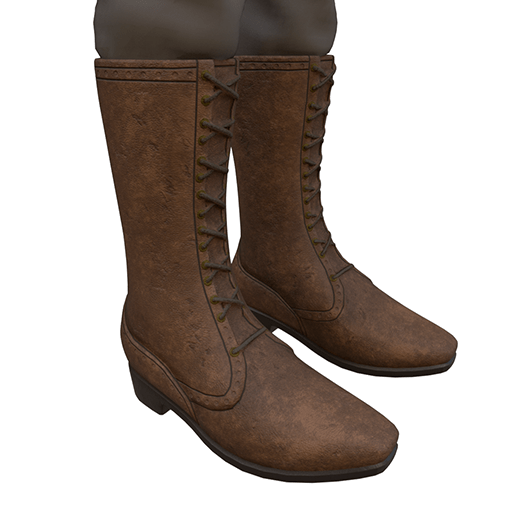 BlakOpal Lace Front Boots in Tan