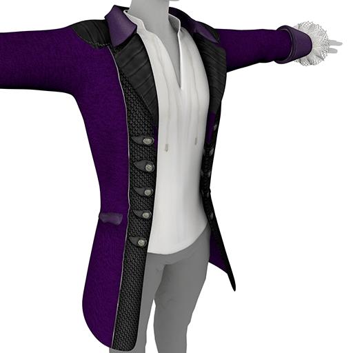 Purple Men's Coat