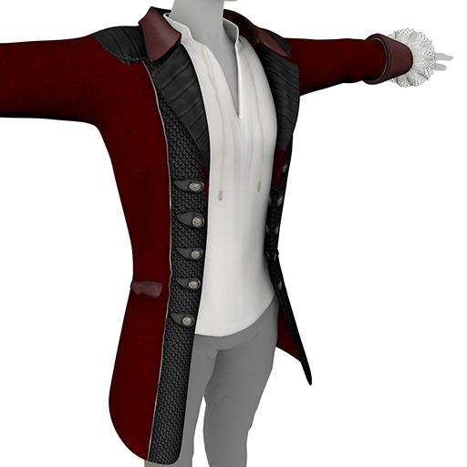 Red Men's Coat