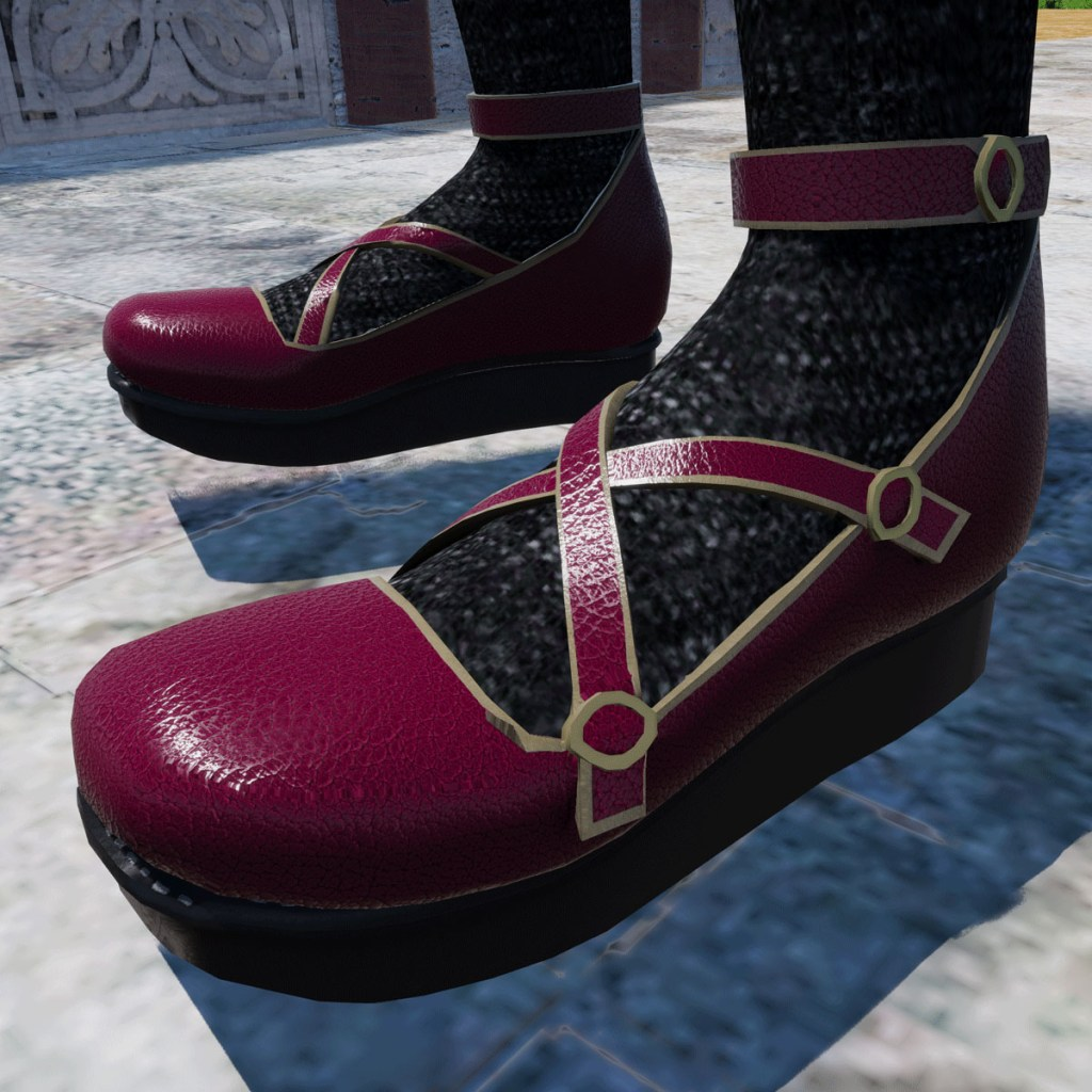 Rascal Platform Shoes in Raspberry