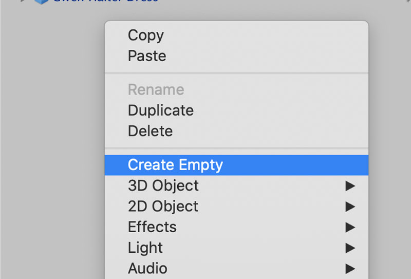 Create Empty Game Object