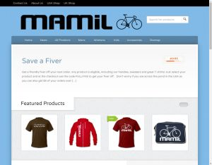 Screenshot of Mamilwear.com