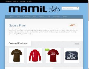 Screenshot of Mamilwear.com