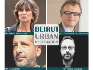 """Initiative de l'ordre des ingénieurs et architectes du Liban: """"LA DECLARATION URBAINE DE BEYROUTH"""""""