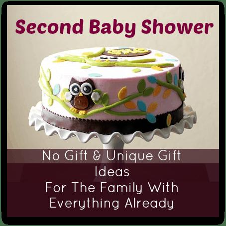 Second Baby Shower   No Gift U0026 Unique Gift Ideas