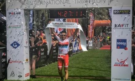 Javier Gómez Noya gana en Cannes y se prepara hacia el debut en distancia Ironman.