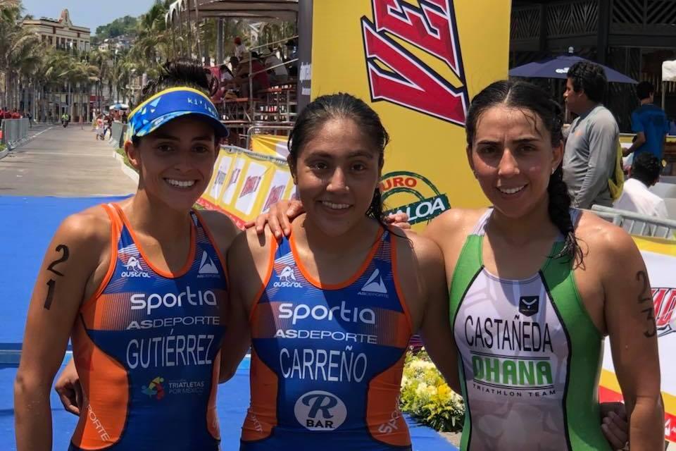 Adriana Carreño y Miguel Márquez campeones del Gran Triatlón Pacífico Mazatlán 2018