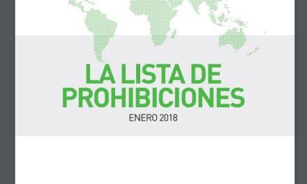 Listado de substancias prohibidas en 2019 por la WADA