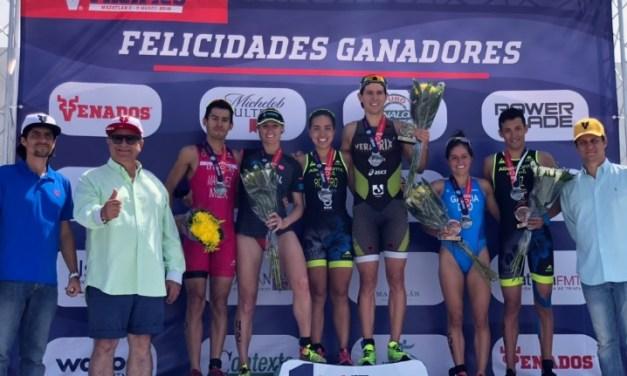 Rueda y González conquistan el Gran Triatlón Pacífico Mazatlán 2019