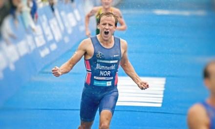Se luce Blummenfelt, favorito a medalla en Tokio 2020, en un duatlón en Portugal