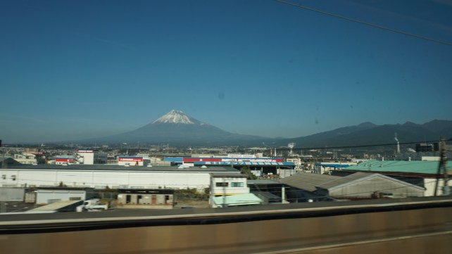 Mount Fuji view on the way to Kyoto