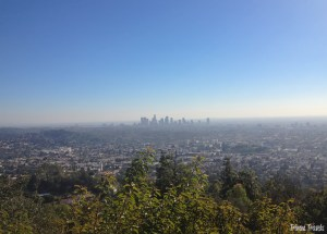 Los Angeles overlooking downtown from Griffith Observatory