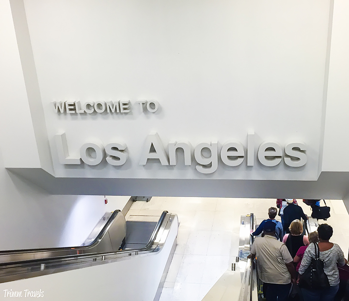 Welcome to Los Angeles California welcome sign at LAX airport