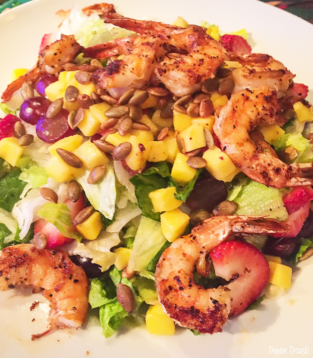 Tropical Island Chicken Salad from The Rainforest Cafe in Disney Village Anaheim Los Angeles California