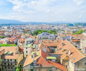 View of Geneva from atop St Pierre Cathedral
