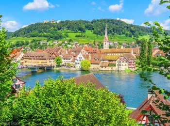 how to see stein am rhein and rhine falls from zurich switzerland