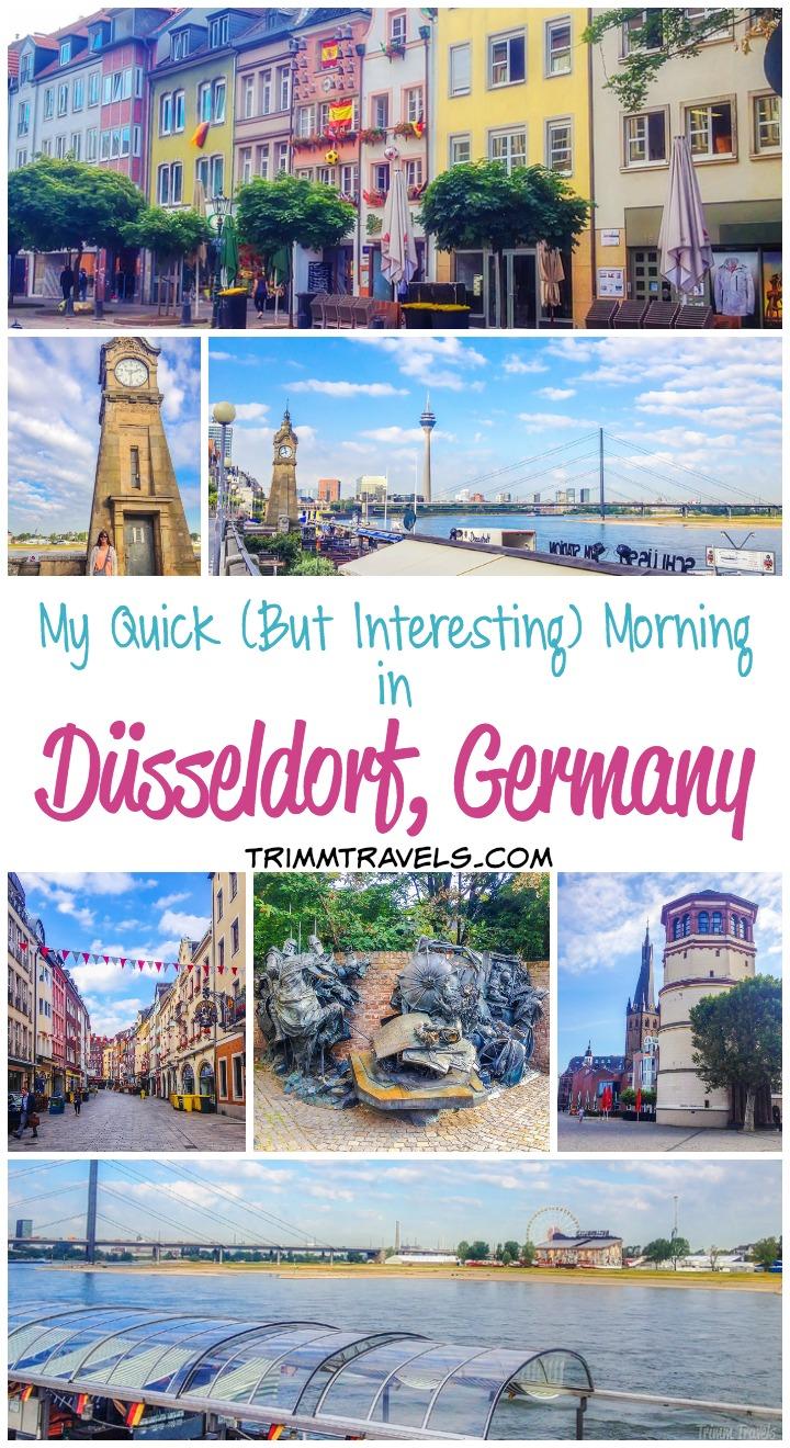 morning altstadt düsseldorf germany