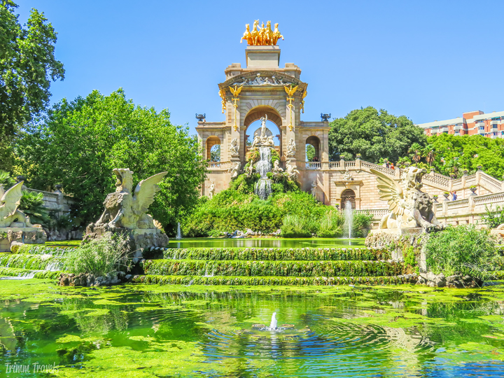 Cascada Waterfall Parc de la Ciutadella Best Places to See First Time Visitor Barcelona Spain