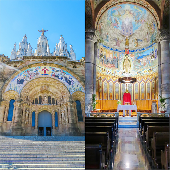 Temple Expiatori del Sagrat Cor Tibidabo Best Places to See First Time Visitor Barcelona Spain